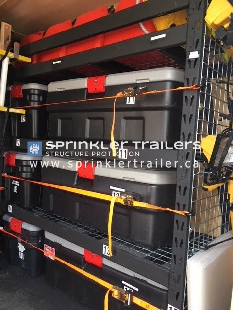 Sprinkler Trailer Inside Equipment